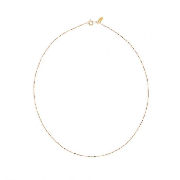By Thiim 8KT Gold Box Chain 50 cm