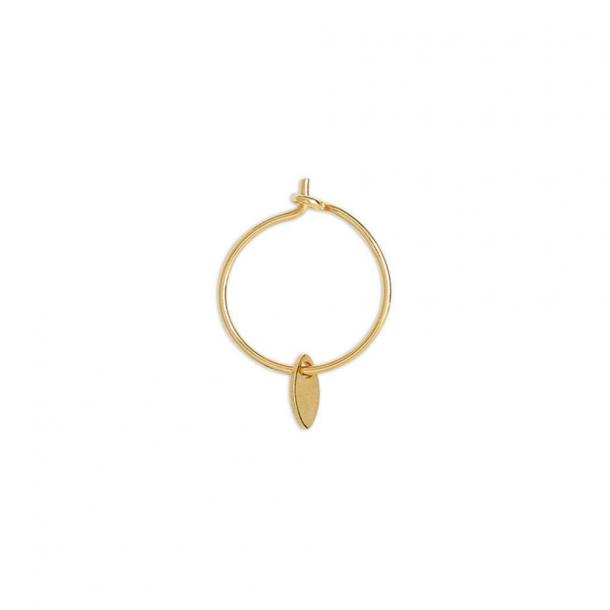 By thiim leaf hoop gold