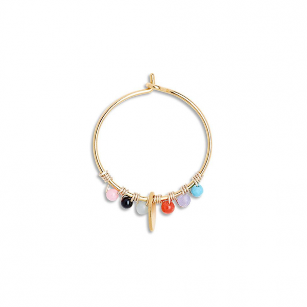 By Thiim Leaf Hoop Rainbow Pastel