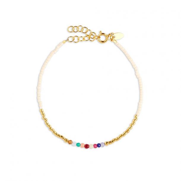 By Thiim simplicity deluxe rainbow bracelet white