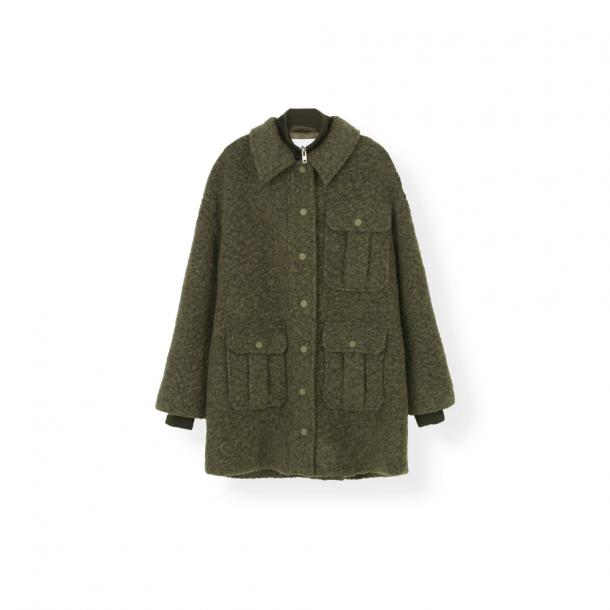 Ganni Boucle Wool Jacket