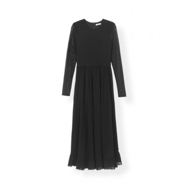 Ganni Dot Mesh Maxi Dress