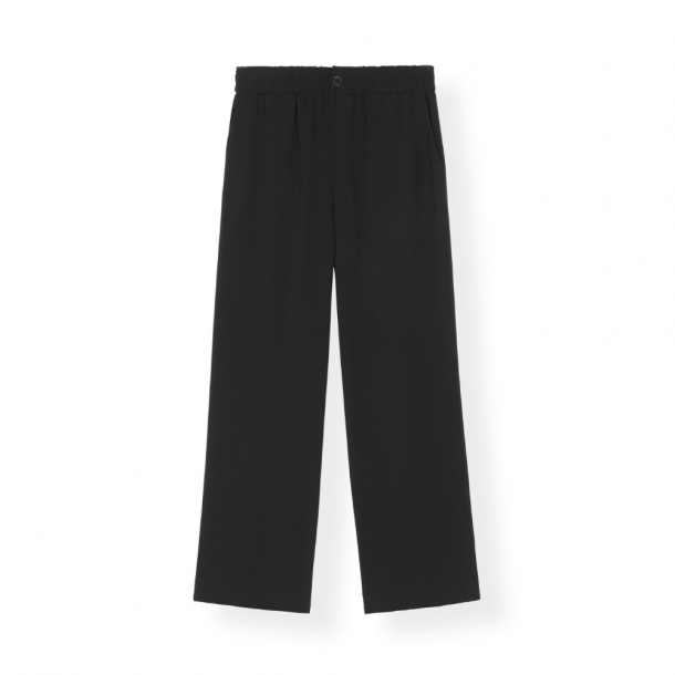 Ganni Heavy Crepe Wide Pants