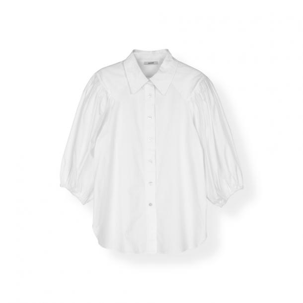Ganni Plain Cotton Poplin Shirt