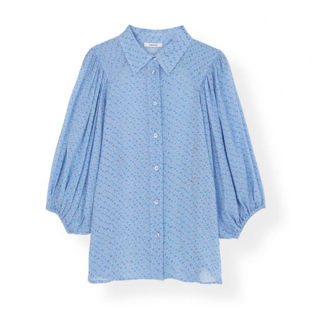 Ganni Shirt Printed Georgette