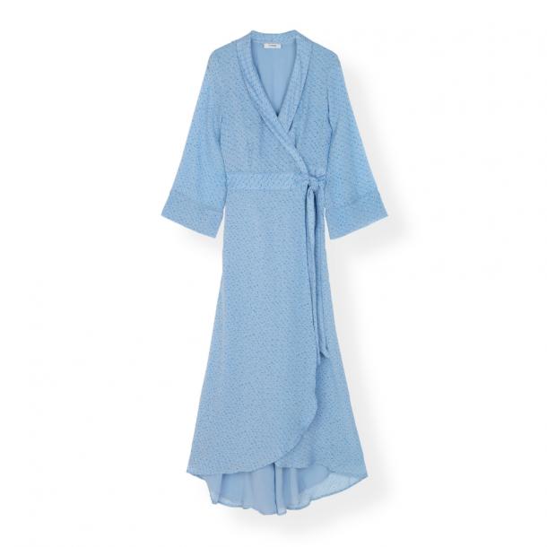 Ganni Wrap Dress Printed Georgette