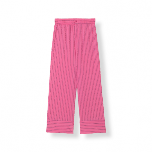 Ganni Lynch Seersucker Pants Hot Pink