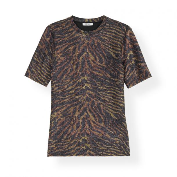 Ganni T-shirt Lurex Jersey