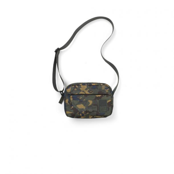 Ganni Tech Fabric Bag Kalamata Camouflage