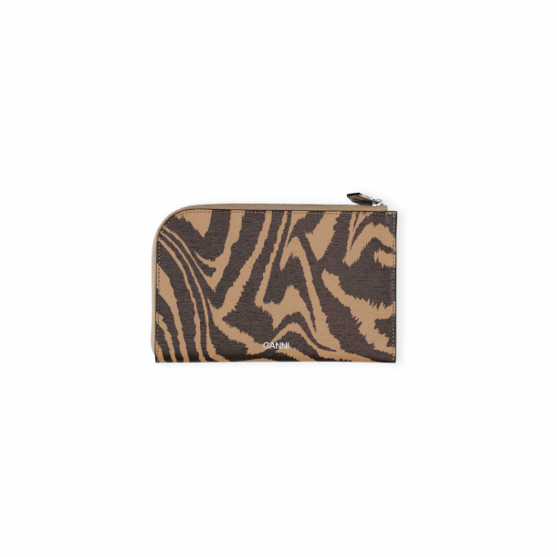 Ganni Wallet Printed Leather Tannin