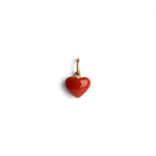 Jane Kønig Coral Heart Pendant 18 K GD