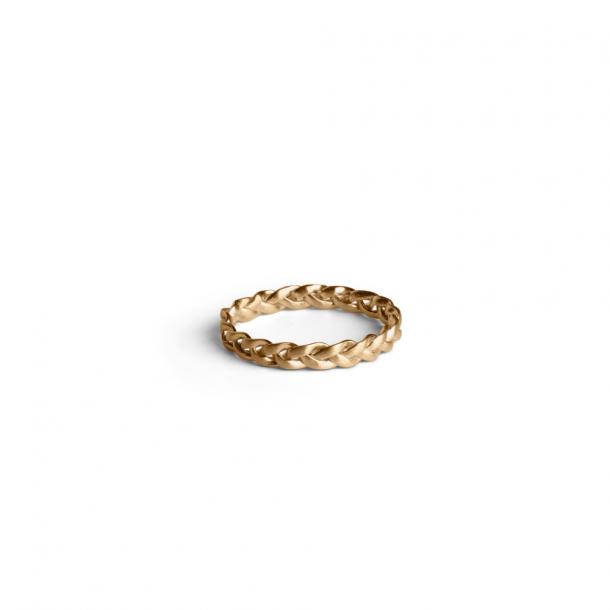 Jane Kønig Medium Braided Ring GD