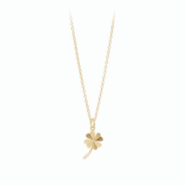 Pernille Corydon Clover Necklace Forgyldt