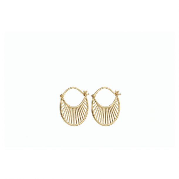 Pernille Corydon Large Daylight Earrings Forgyldt