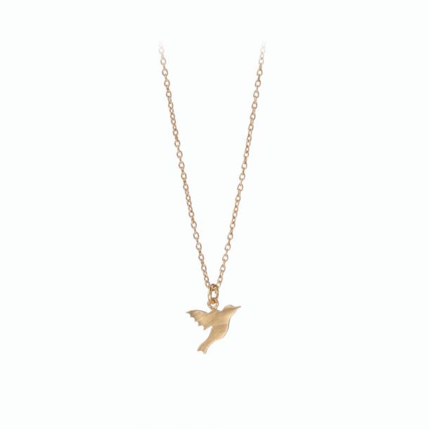 Pernille Corydon Hummingbird Necklace Forgyldt