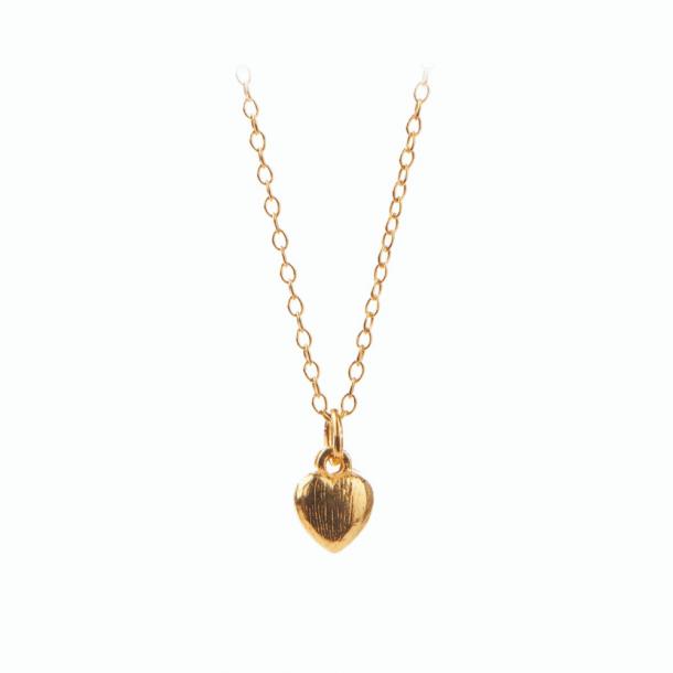 Pernille Corydon Mini Heart Necklace Forgyldt