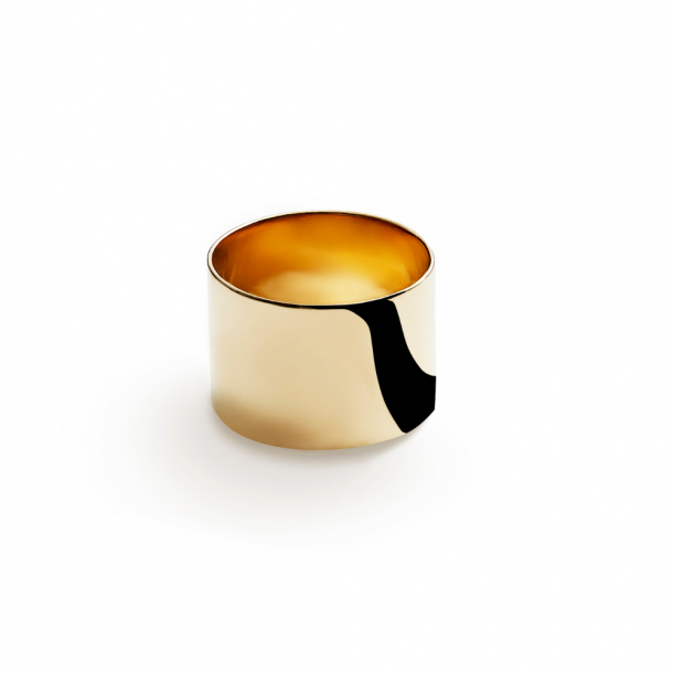 Trine Tuxen Cylinder Ring Gold Plated