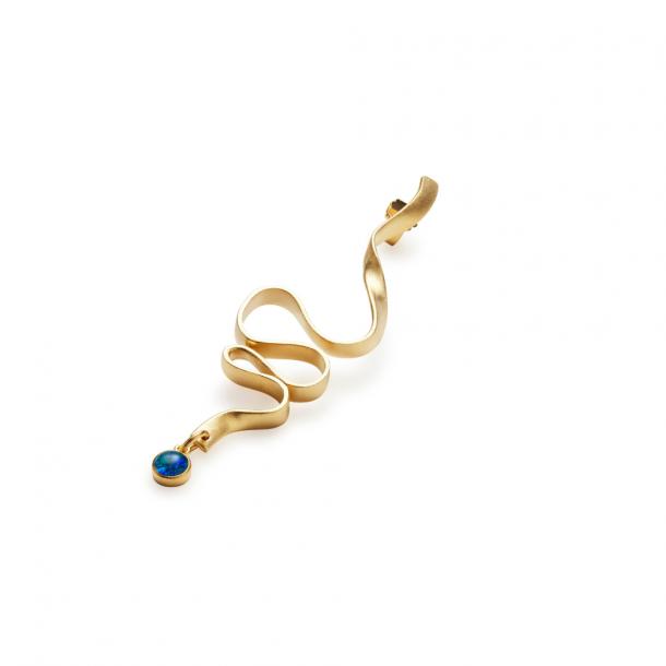 Trine Tuxen Ribbon Earring II Gold Plated