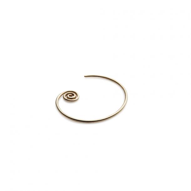 Trine Tuxen Snail Spiral Earring Gold Plated