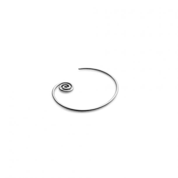Trine Tuxen Snail Spiral Earring Silver