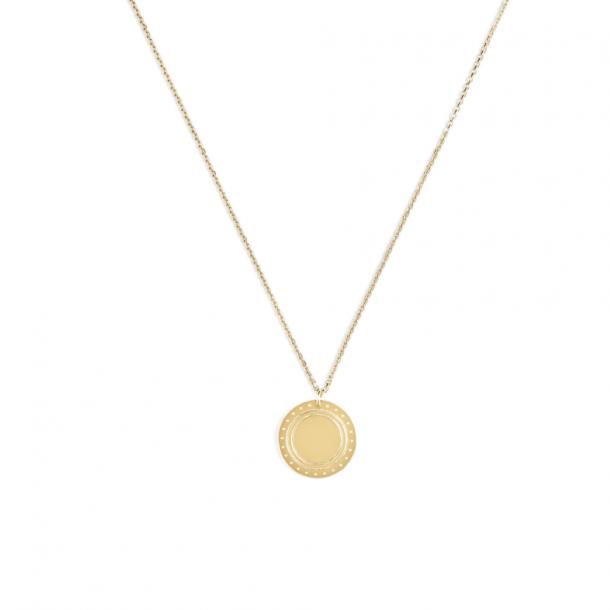 Trine Tuxen Logo Charm Gold Plated