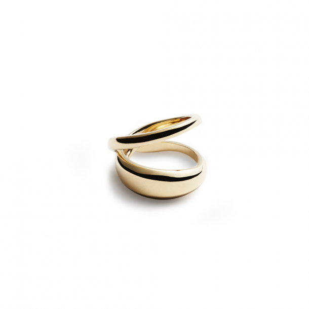 Trine Tuxen Loop Ring Gold Plated