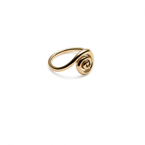 Trine Tuxen Snail Ring Gold Plated