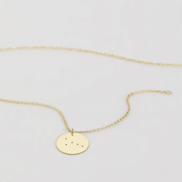 Trine Tuxen Cancer Necklace Forgyldt