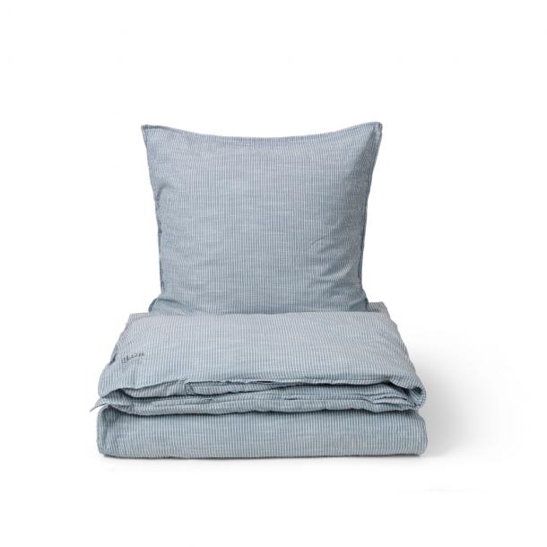 Aiayu Duvet Set Striped + 1 pillow case Indigo