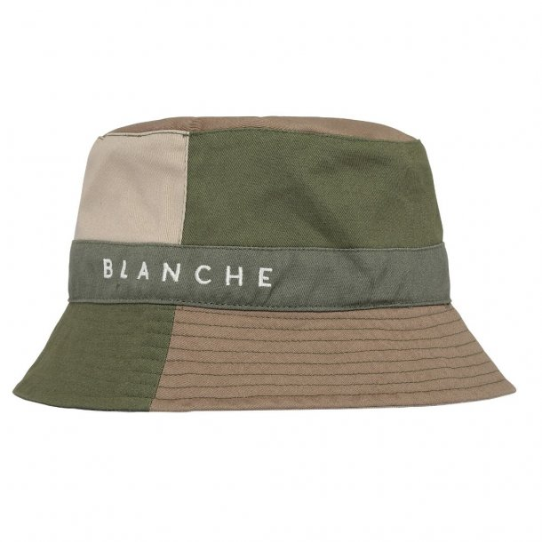 Blanche Bucket Patch Hat Herbal Green