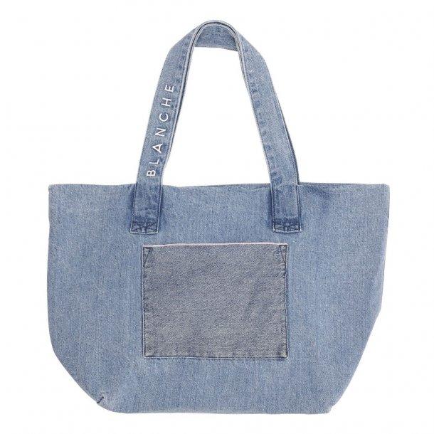 Blanche Tote Denim Bag Vintage Blue