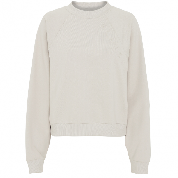 Blanche Hella Oversize Embossed Sweat White Sand