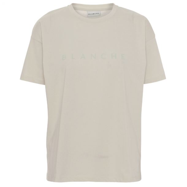 Blanche Main Contrast T-Shirt Beige