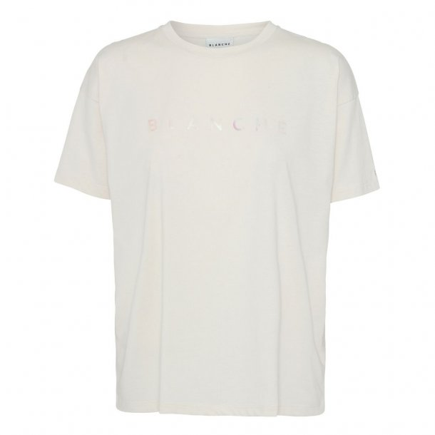 Blanche Main Hologram T-shirt/Top White Sand