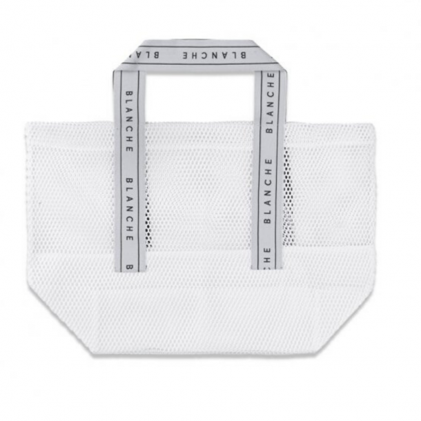 Blanche Tote Logo Bag White