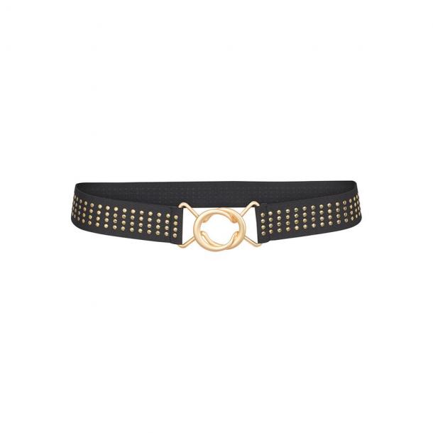 Co'Couture Rivets Belt Black