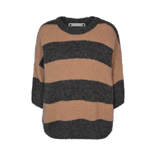 Co'couture Fernanda Stripe Knit Mid Grey