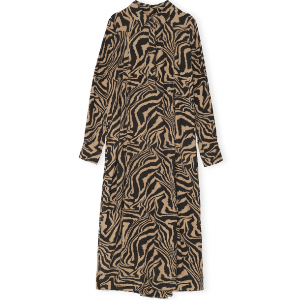 Ganni Shirt Dress Printed Crepe