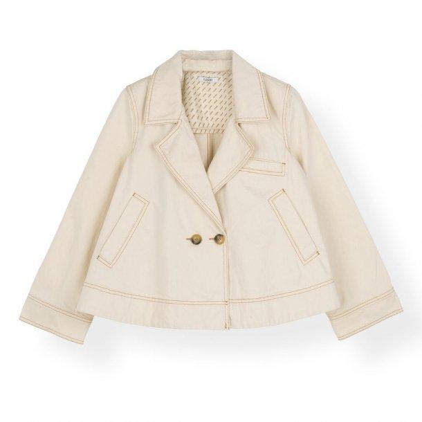 Ganni Short Jacket Heavy Twill