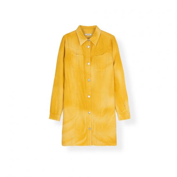 Ganni Colored Soft Denim Shirt Dress