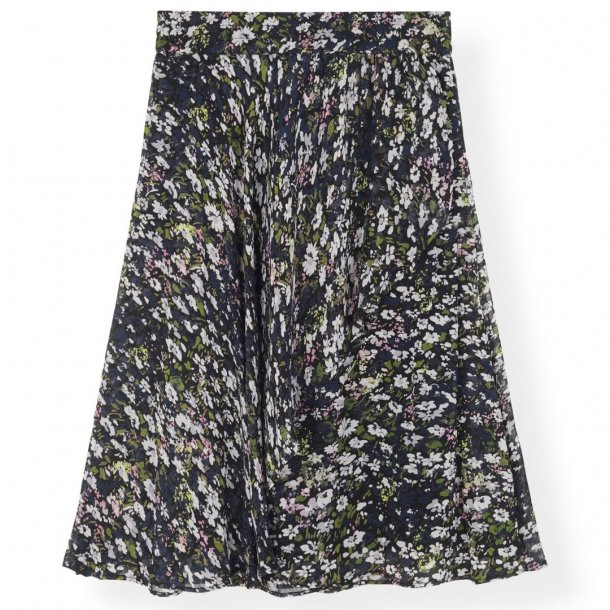Ganni Printed Georgette Skirt