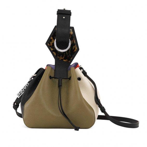 Ganni Small Drawstring Bag Leather
