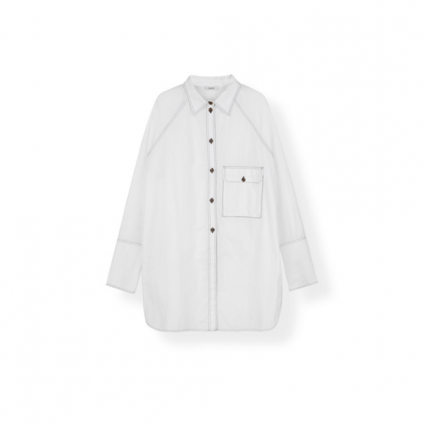 Ganni Oversized Shirt Cotton Poplin