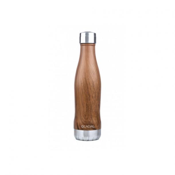 GLACIAL Bottle Teak Wood 400 ml.