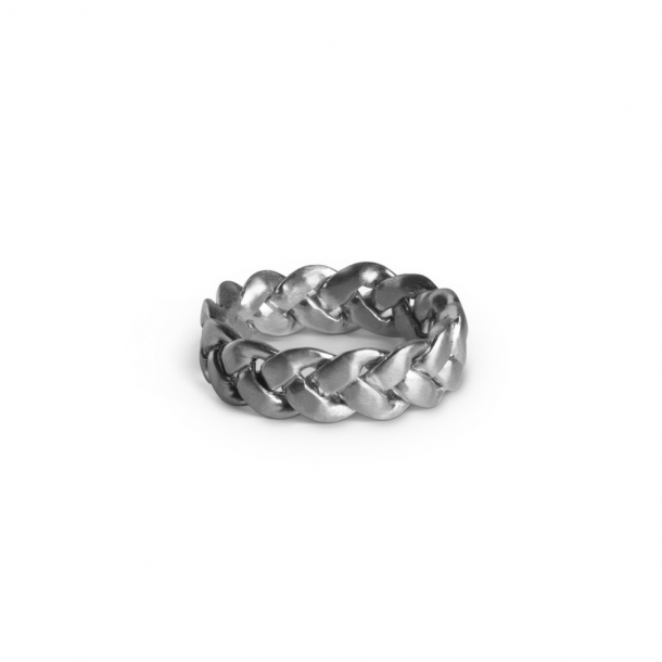 Jane Kønig Big Braided Ring Sølv