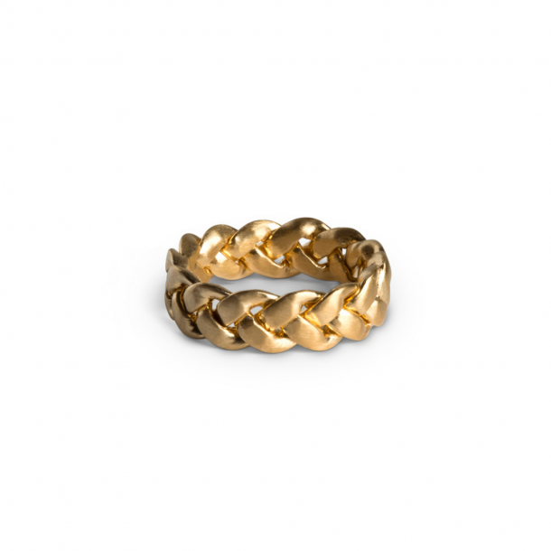 Jane Kønig Big Braided Ring Forgyldt