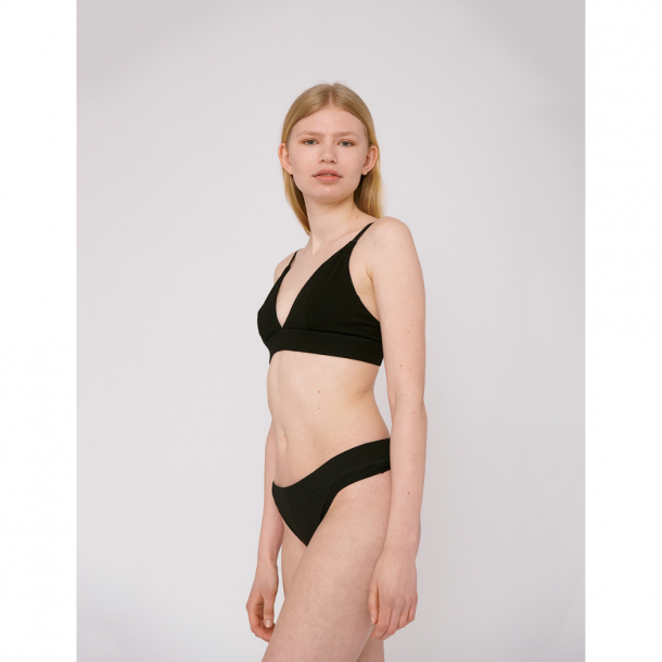 Organic Basics Organic Cotton Thong 2-Pack Black