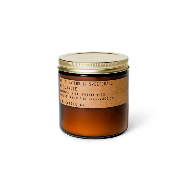 P.F. CANDLE CO.  No. 19 Patchouli Sweetgrass Candle