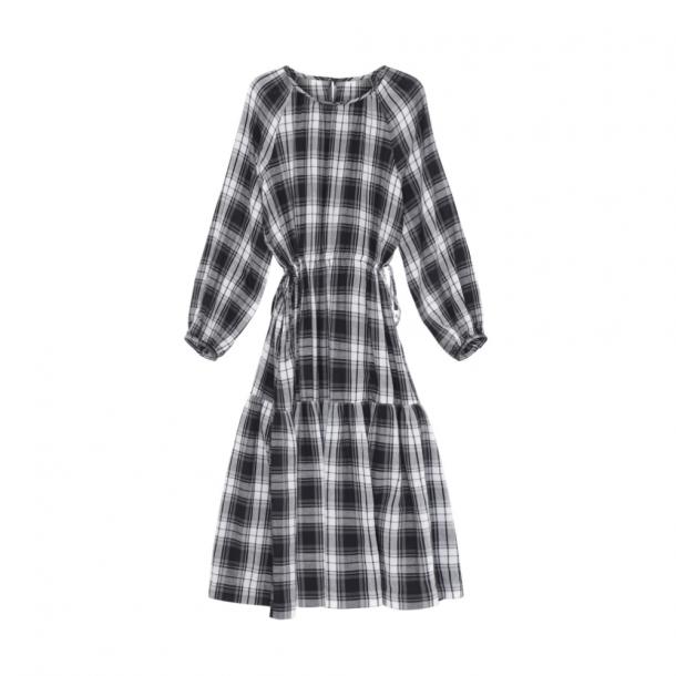 Skall Cilla Long Dress Black/Light Cream