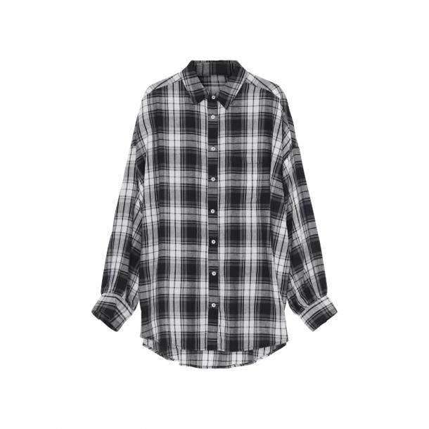 Skall Cilla Shirt Long Black/Light Cream